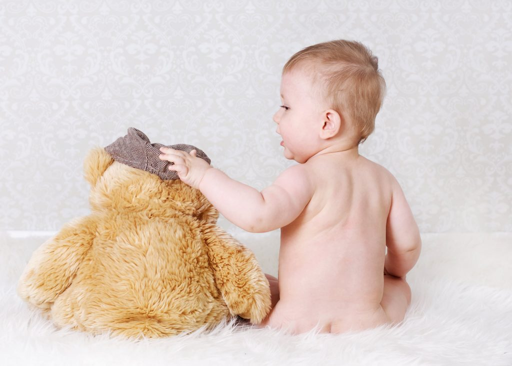 baby with teddy