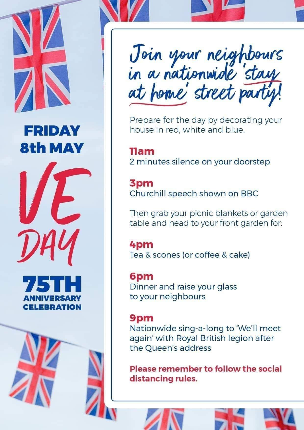 Ve Day 70th anniversary poster