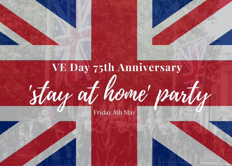 VE day celebrate at home poster