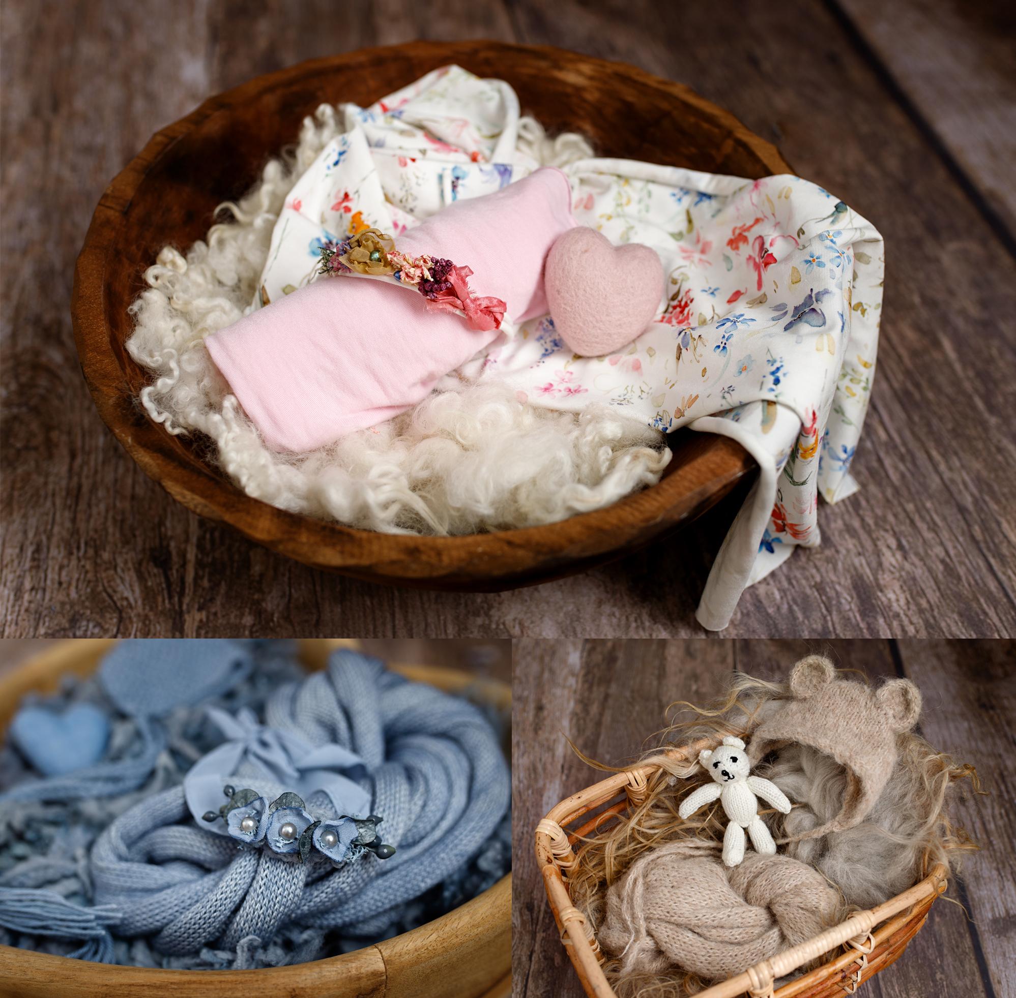 photographs of newborn props in Kent
