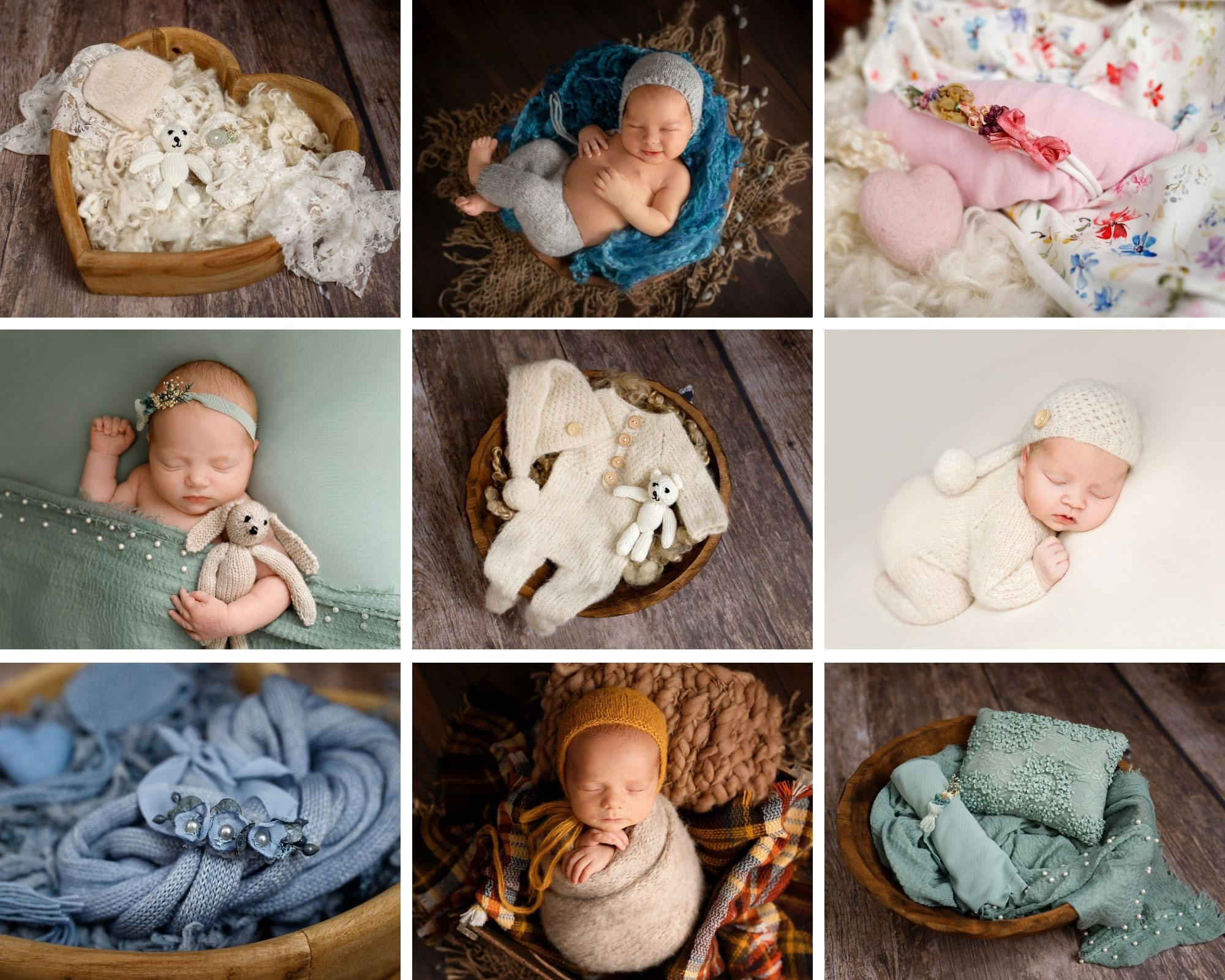 collage of baby photos
