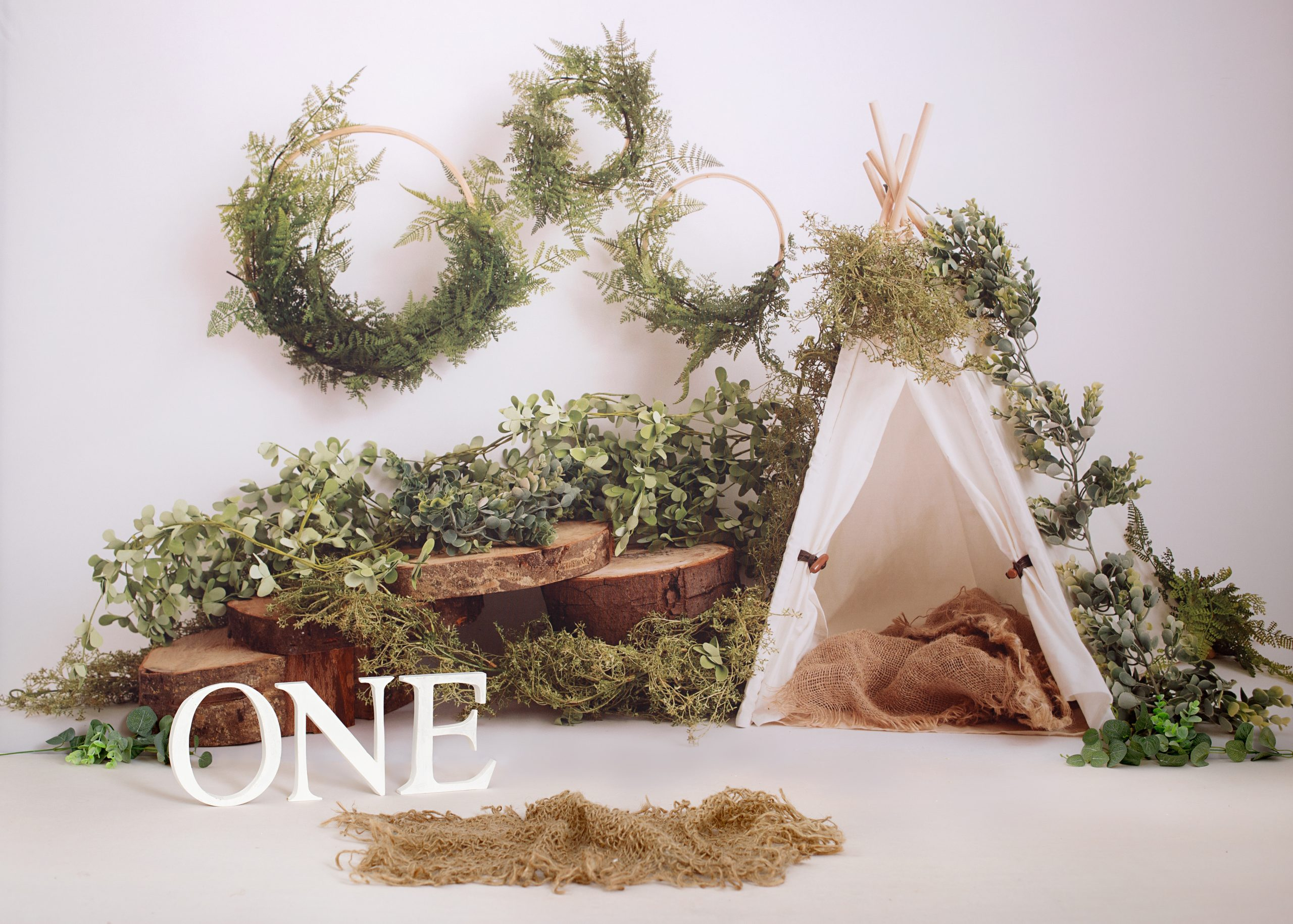 tent and greenery