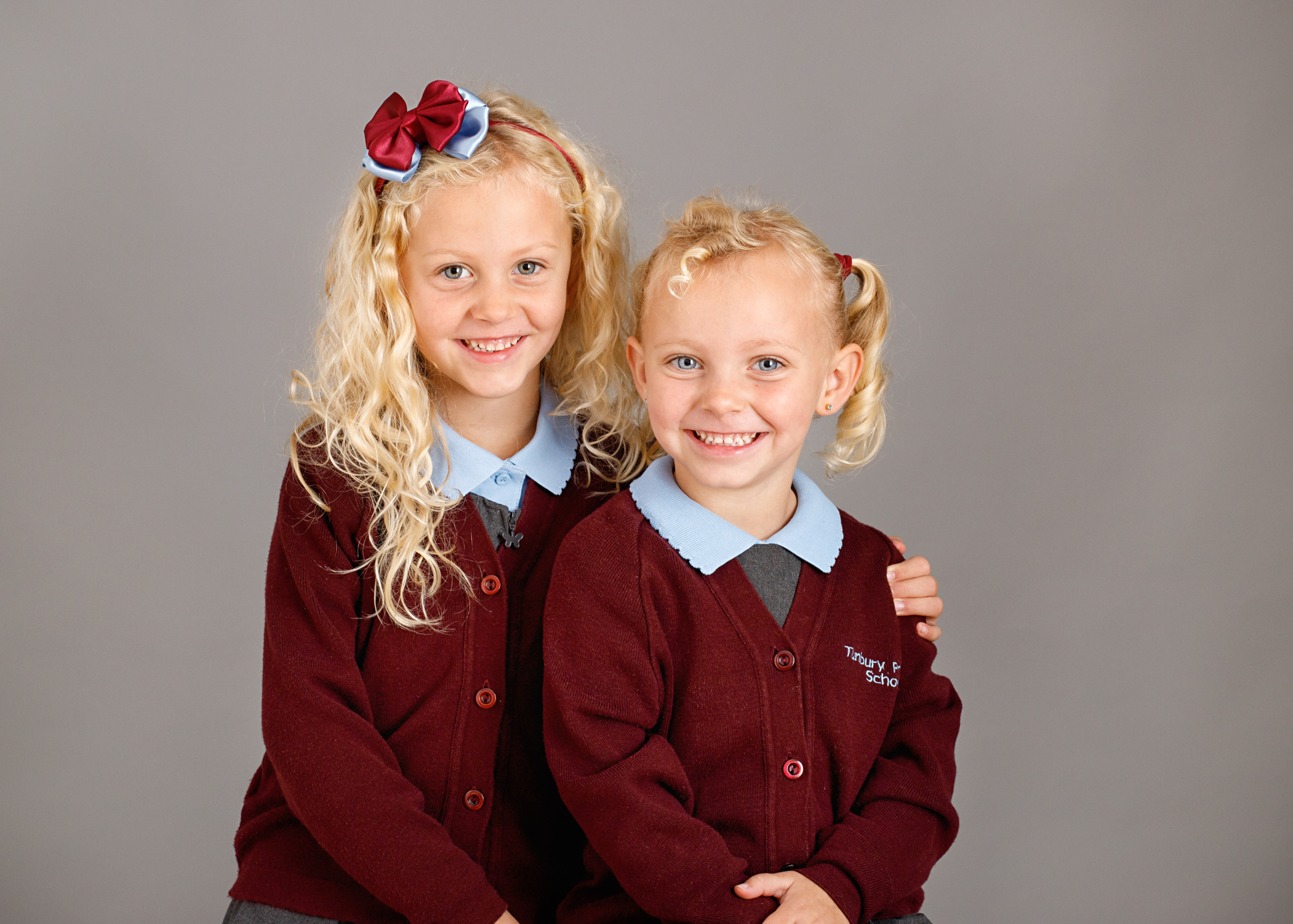sisters having their school photos in Chatham
